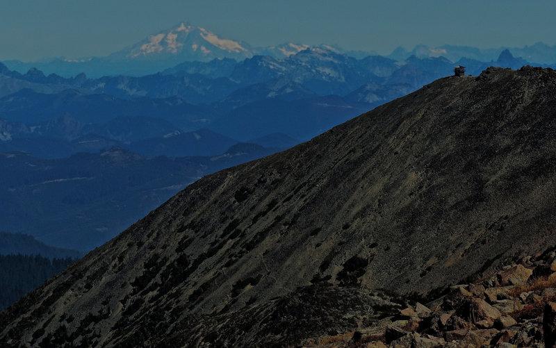 Glacier Peak from Burroughs Mountain.