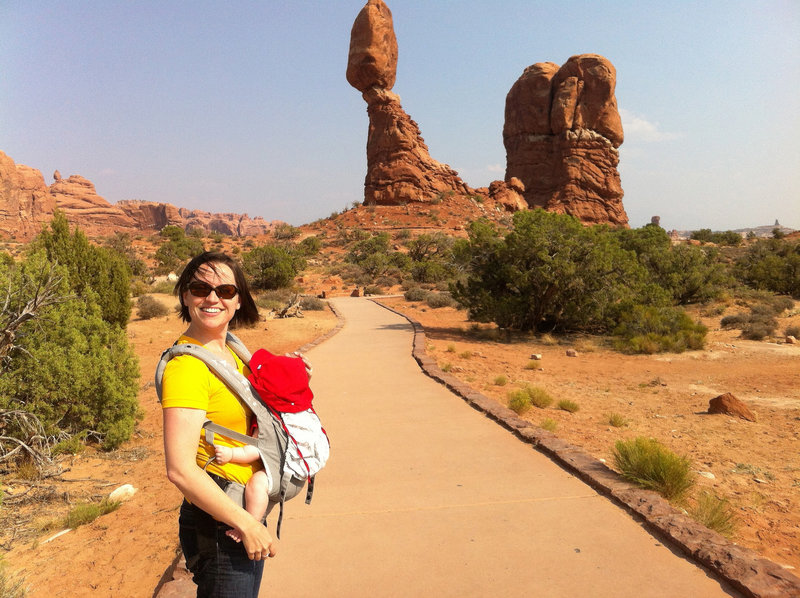 The paved portion of Balanced Rock Trail