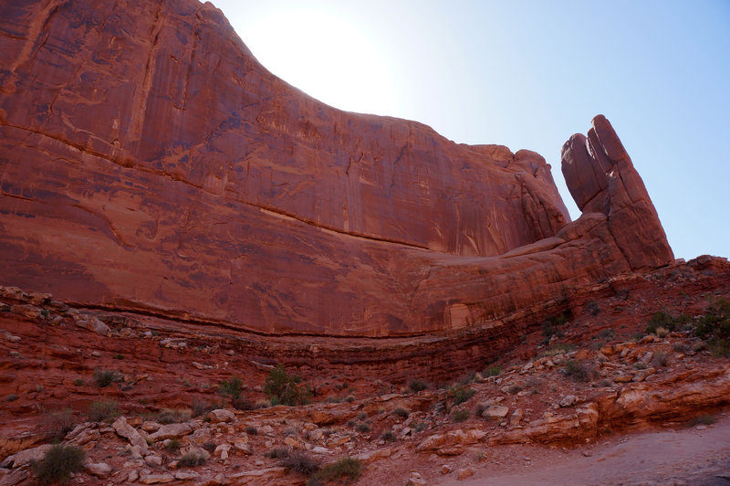 Park Avenue Trail threads a spectacular canyon in Arches National Park