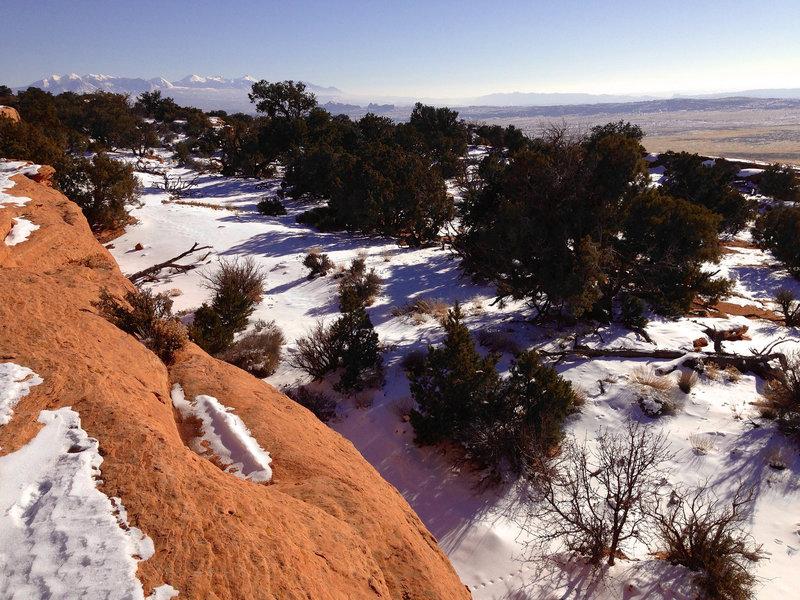 So much view- winter on the Dark Angel Trail