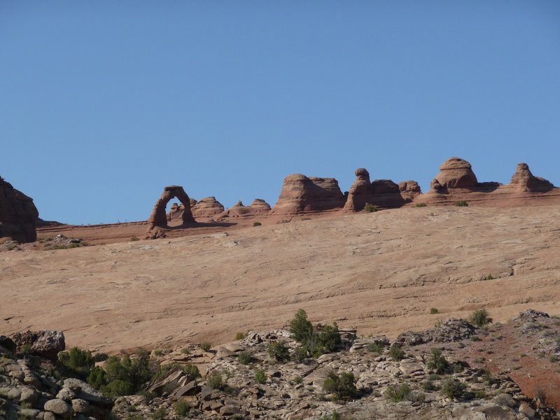 Delicate Arch view from the close, parking lot viewing platform