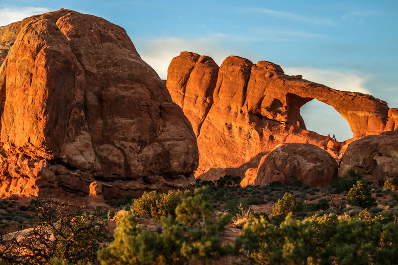 Sunset at Skyline Arch