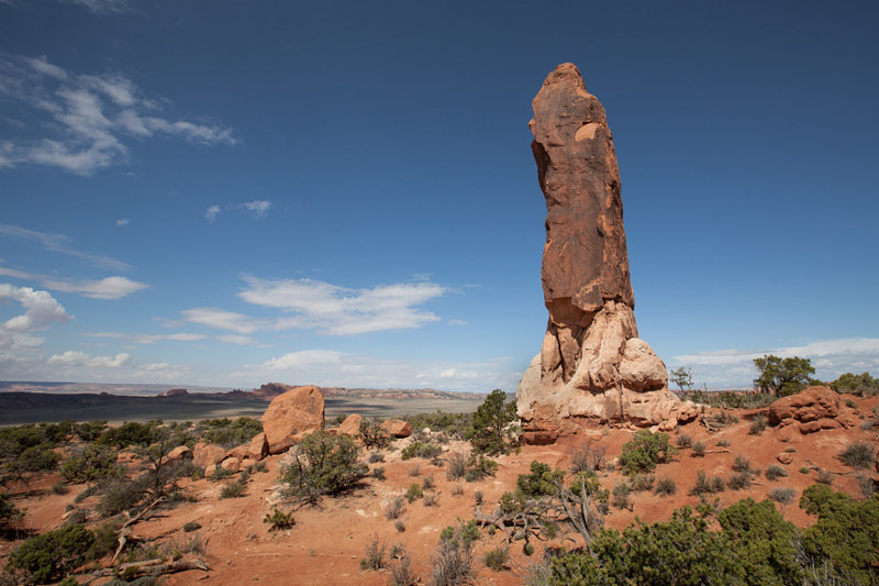 Dark Angel pinnacle in Arches National Park