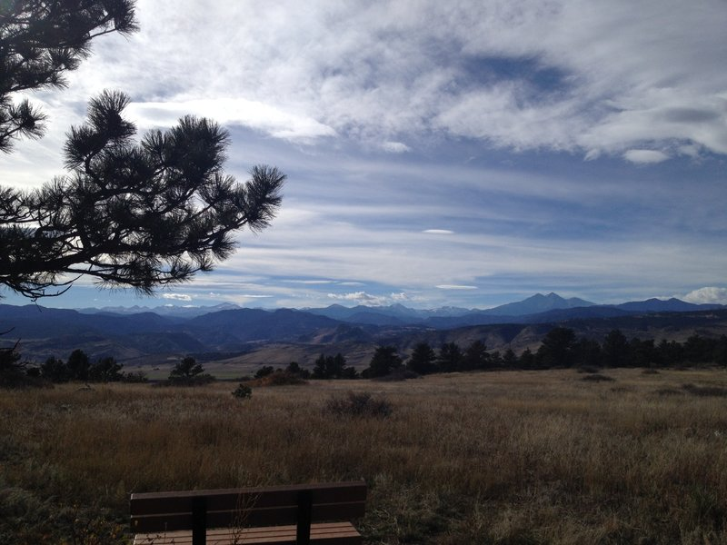 Take a rest on the bench here and enjoy the stunning views!  Or, just run on past, because right after this is probably the most fun part of the Eagle Wind trail (heading clockwise).