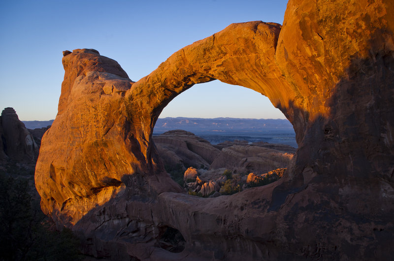 Evening light at Arches NP!