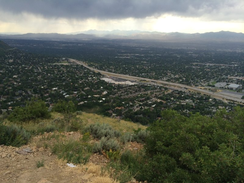 View of Salt Lake valley from the end of Pipeline Trail