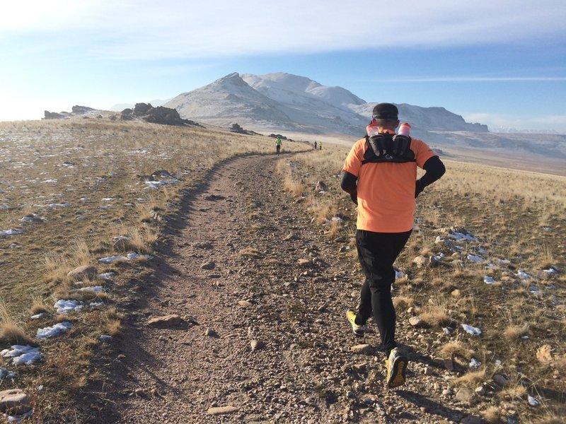 Climbing the White Rock Loop trail on Antelope Island