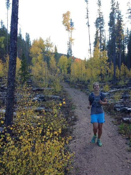 Making it look easy!  On the Peaks Trail