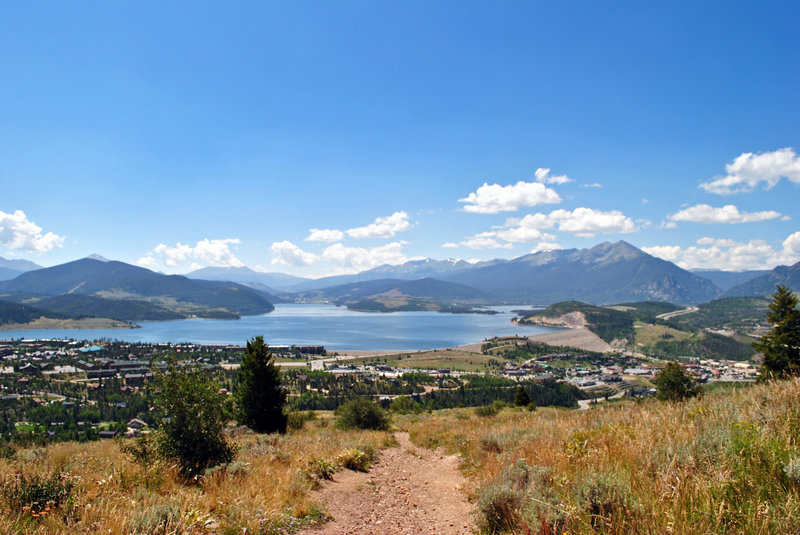 Looking south towards Dillon Reservoir at what I just ran up.