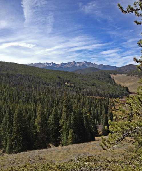 View of the Ten Mile Range from the top of Red Trail