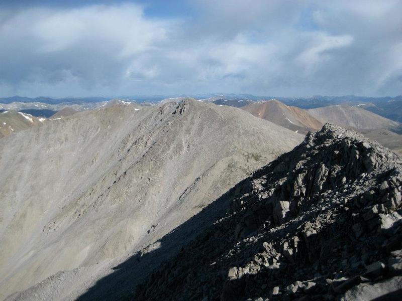 Tabeguache Peak as seen from near Shavano's summit.