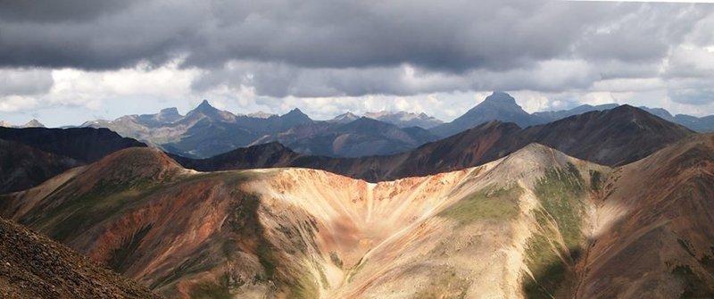 Wetterhorn, Matterhorn, and Uncompahgre as seen from Handies Peak.