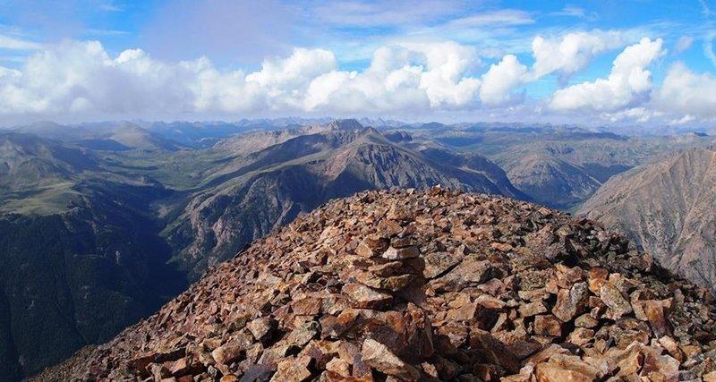 Views from the summit of Sunshine Peak.