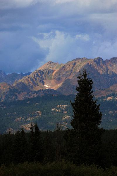 Mountain sunbeam from Gore Range Trail