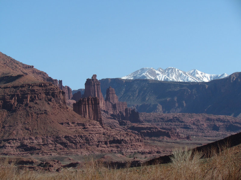 Fisher Towers from a distance.