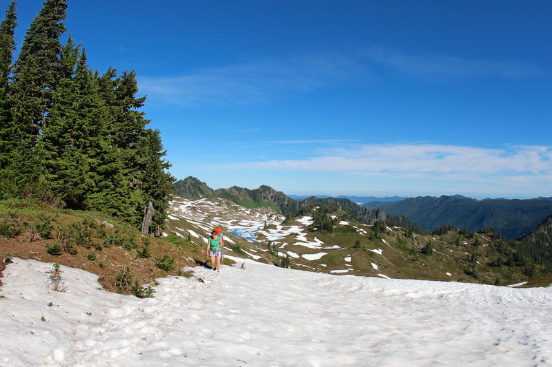 Snow spots on High Divide