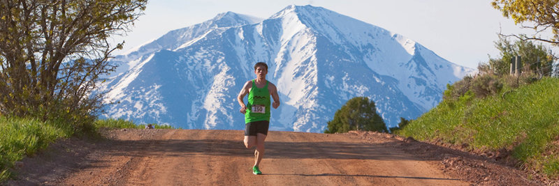 The race winner with Sopris providing some backdrop.