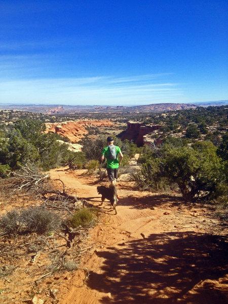 Running on Bull Run Trail