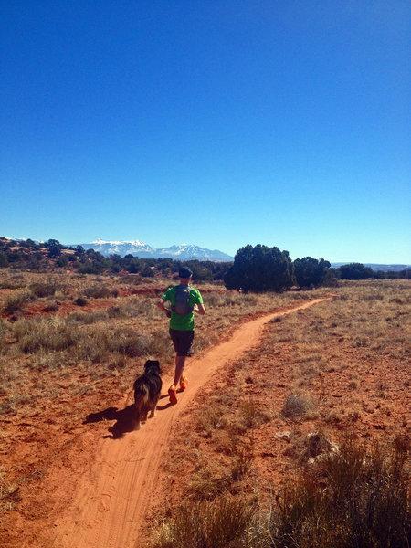 Running on nice sandy Bull Run Trail (Magnificent 7 Trail)