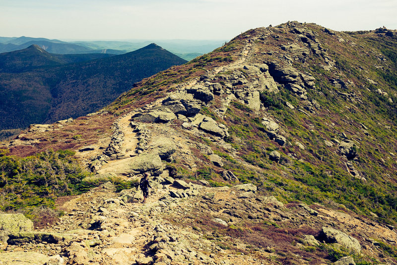 One long mile of that view.... simply amazing.. On Franconia Ridge Trail.