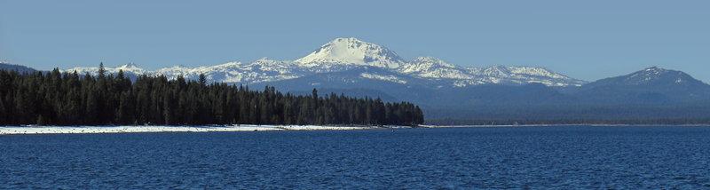 Beautiful Lake Almanor and Mt. Lassen