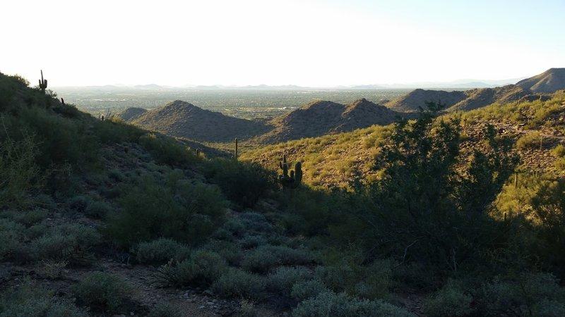 Gateway Saddle Loop trail view of North Scottsdale