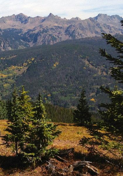 The Gore range across the valley