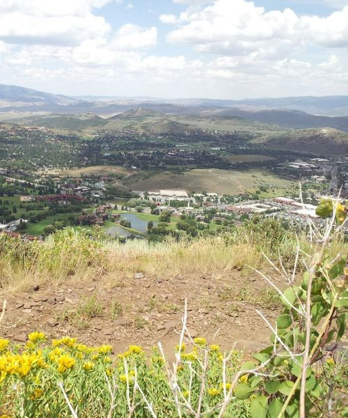 The town of Park City spread out below you