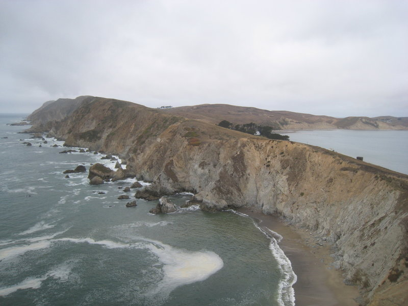 View of the headlands from the Chimney Rock area