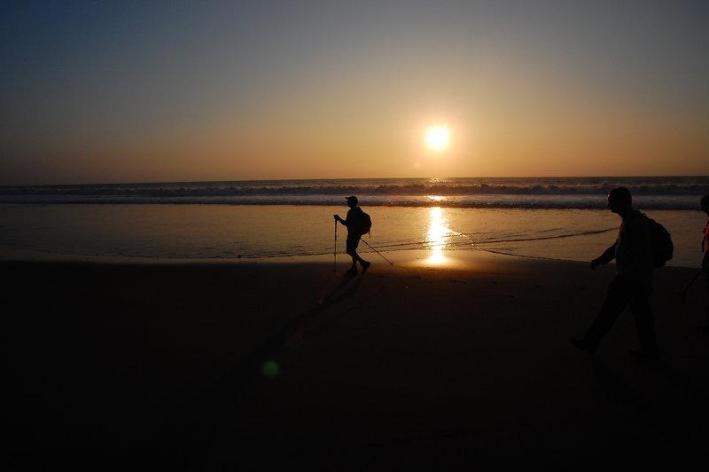 Wonderful beach walking here