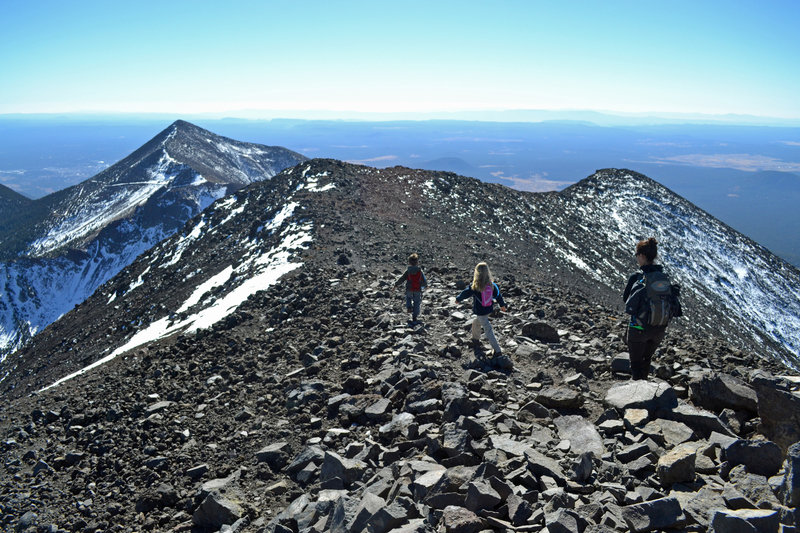 Terrific views on the upper ridge of Humphreys Peak