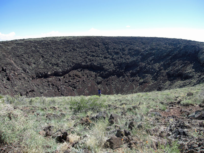 Looking into SP's impressive crater.