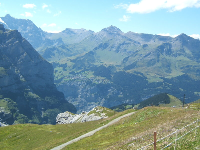 The view down the valley from Eigergletscher.