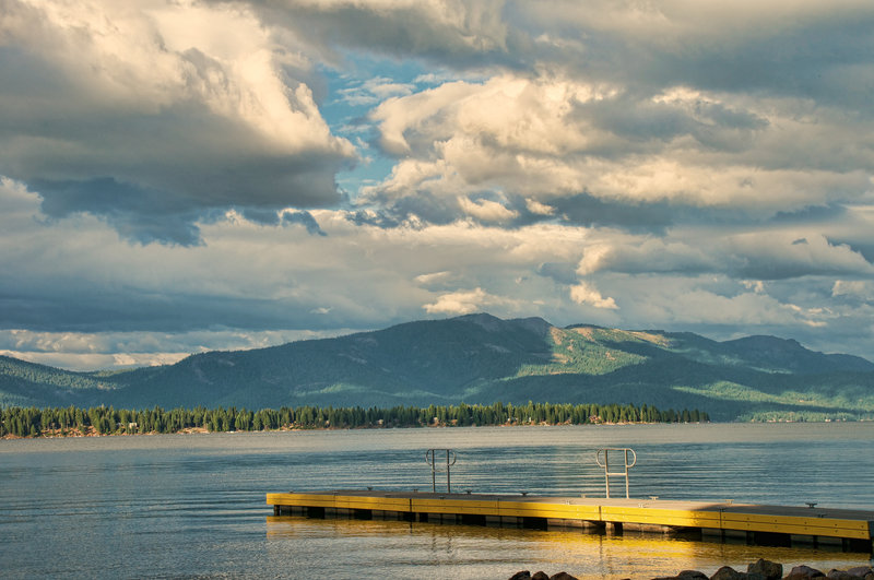 Clouds over Lake Almanor.
