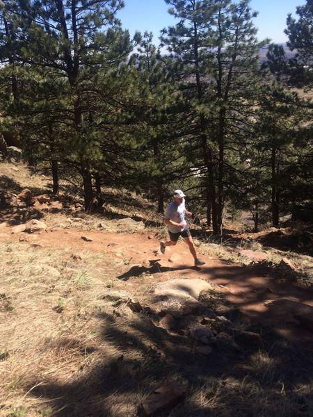 Running up Flagstaff