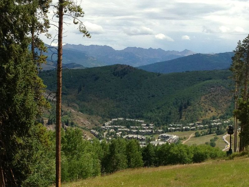 Beaver Creek and the Gore Range in the background