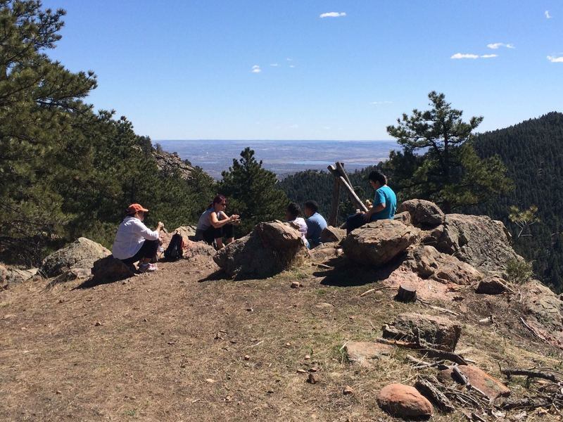 Good picnic spot with views towards Denver