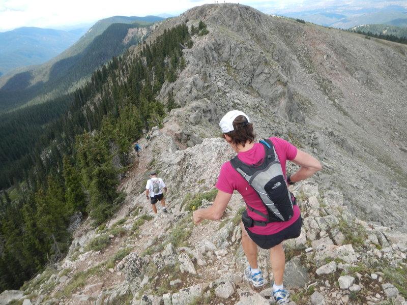 Ridge to Lake Peak