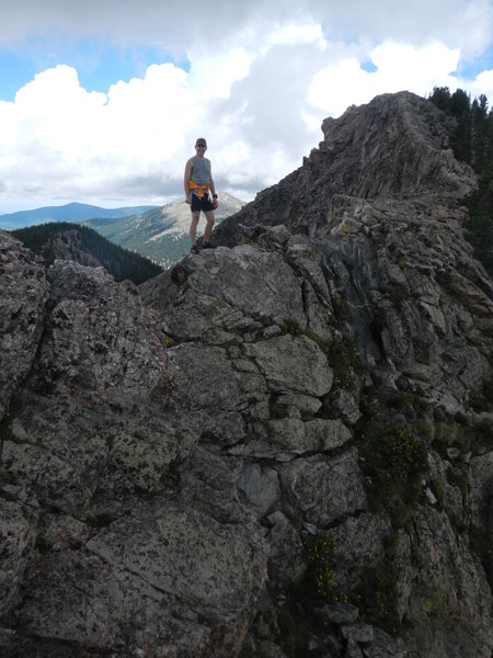 The knife edge up to Lake Peak.