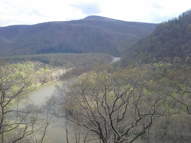 Great view of the Youghiogheny River valley