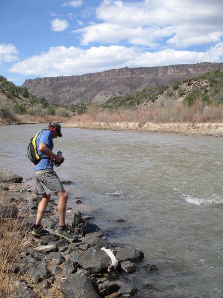 Take me to the river...  on the Diablo Arroyo Trail