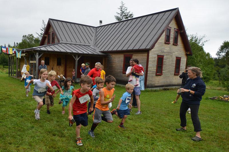 The half-mile kids race, around our fields twice!