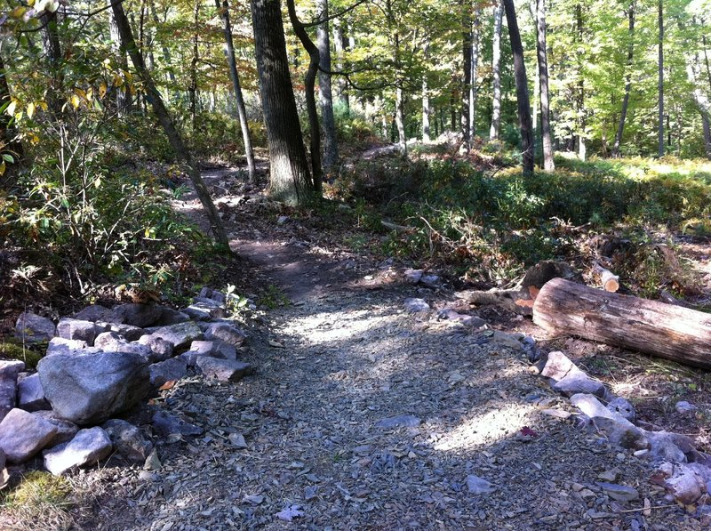 New entry (reroute) for lower Lonberger Path.