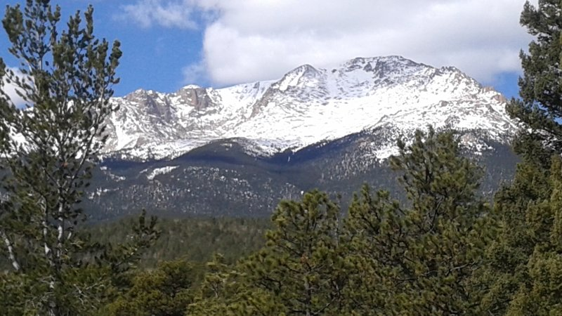 Summit of Pikes Peak to the west.