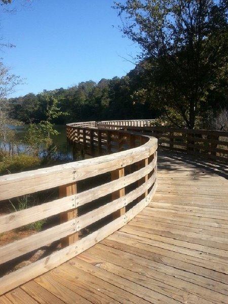 Boardwalk bridge.