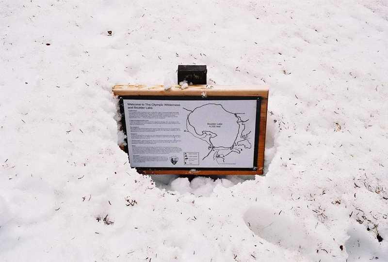 Sign near Boulder Lake