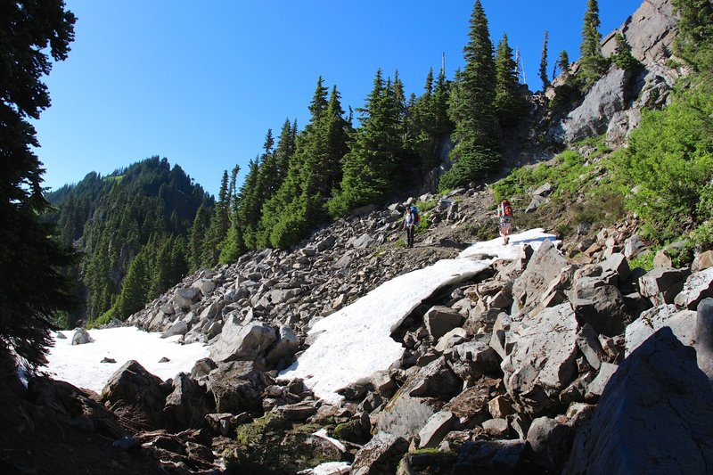 High Divide & Lunch Lake Trail Junction