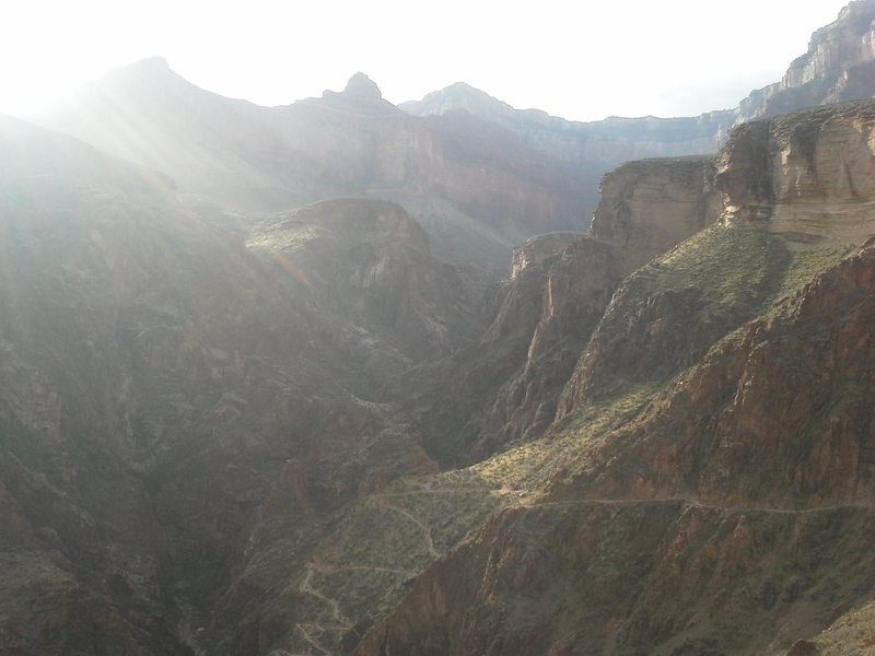 Early morning on the Bright Angel Trail, Grand Canyon