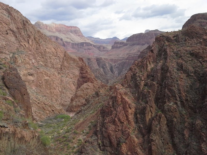Looking at about 50 million years of layers into the canyon.