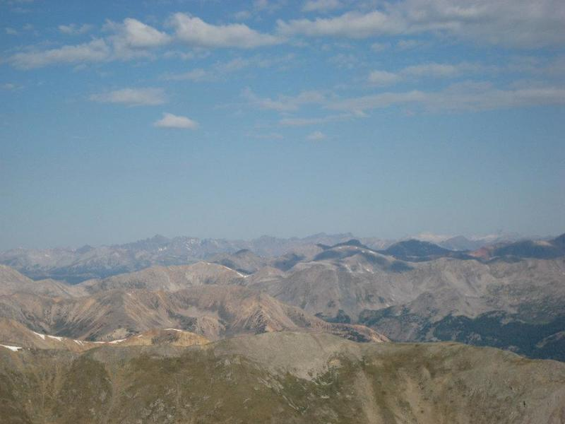 View of the Sawatch Range from Mt. Belford's summit.